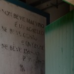 We have also preserved the amusing and interesting writings on the walls, which we think may date from the 1930's.