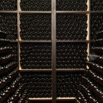 The 'pupitres' are kept here for the production of our Brut Metodo Classico, with Carricante grapes arriving from Etna.